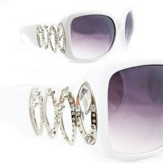 SWG luxurious Large Rhinestone Sunglasses 2178 White Stunning Design with Purple Black Gradient Lens for Women SWG. $35.99. ? UV400 Lens Technology, absorbing over 99% of harmful UVA and UVB spectrums.. ? Smart design to fit your face curve. Absolute comfort for everyday wear.. ? FREE 1x micro fiber cloth. ? FREE 1x exculsive sunglasses box. ? Extremely stunning and stands out fashionably.