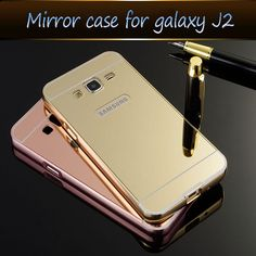 Phone Case For Samsung Galaxy J3 J3109  Bling Metal Aluminum Frame Bumper Mirror Surface Back Cover Cases For Galaxy J 3