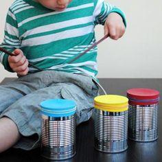 Recycler des boites de conserves pour fabriquer des tambours