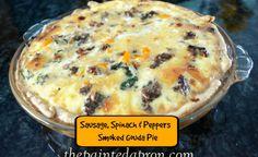 sausage and veggie smoked gouda pie  thepaintedapron.com