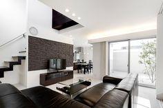 白い中庭のある住宅・間取り(名古屋市) | 注文住宅なら建築設計事務所 フリーダムアーキテクツデザイン