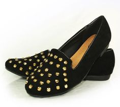 studded flat shoes