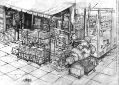 """hitodama: """" From Studio 4°C Taiyō Matsumoto's Tekkonkinkreet """""""