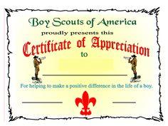Certificate Of Appreciation Gif 960 720 Pixels Certificate Of Appreciation Awards Certificates Template Boy Scouts