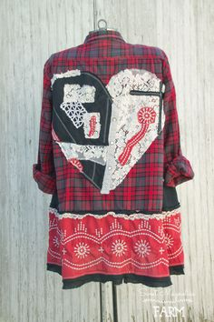 Farm Girl Fancies Upcycled Flannel Shirt/Jackets A Line Style by: Sweet Magnolias Farm .. now in our Etsy Shop 11-9-17