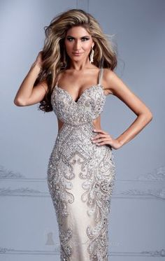 Embellished Sweetheart Gown by Terani Couture Evening GL2316