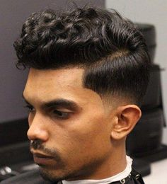 Hairstyles curly 40 Statement Hairstyles for Men with Thick Hair Curly Top Low Fade Hairstyle Wavy Hair Men, Thick Curly Hair, Haircuts For Curly Hair, Haircuts For Men, Curly Hair Styles, Cool Hairstyles, Hairstyles 2018, Medium Hairstyles, Men's Hair