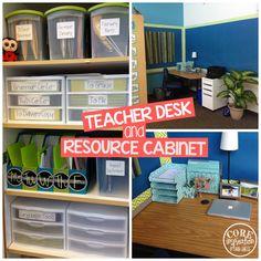 Core Inspiration by Laura Santos: Classroom Tour: Teacher Desk and Teacher Resources
