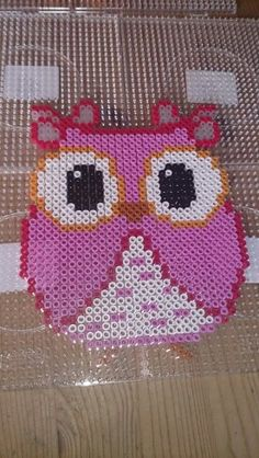 Owl hama perler beads by Susanne Damgård Sørensen Fuse Bead Patterns, Perler Patterns, Beading Patterns, Fuse Beads, Pearler Beads, Owl Crafts, Bead Crafts, Pearl Beads Pattern, Owl Quilts