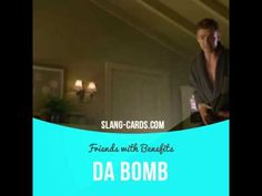 """""""Da bomb"""" means excellent, the best. Usage in a movie (""""Friends with Benefits""""): - You're kidding me? These dudes were da bomb! #slang #saying #sayings #phrase #phrases #expression #expressions #english #englishlanguage #learnenglish #studyenglish #language #vocabulary #dictionary #grammar #efl #esl #tesl #tefl #toefl #ielts #toeic #englishlearning #dabomb #best #thebest #friendswithbenefits #justintimberlake #milakunis"""