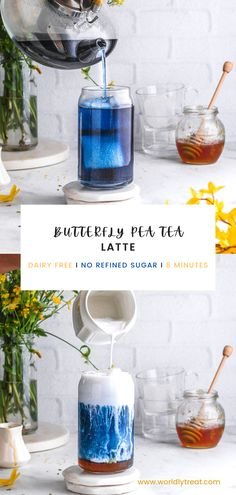 Butterfly pea tea latte is a delicious latte made with coconut milk, honey, and a unique ingredient known as butterfly pea flowers. This butterfly pea milk tea tastes refreshing, but the main highlight is its beautiful blue color. #Butterflypealattebenefits #Butterflypealattetaste #Butterflypealattepowder #Icedbutterflypealatte #colddrinks