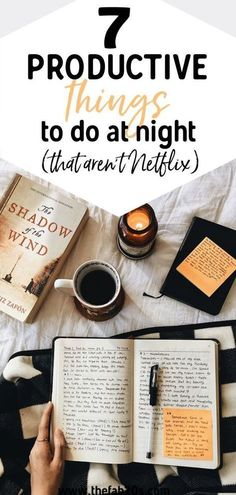 7 Productive Things To Do In The Evening for a better day! Create a healthy nighttime routine of things to do before bed. Healthy things to do before bed. Learn how to make evenings more productive. Productive Things To Do, Things To Do At Home, Productive Day, Night Time Routine, Evening Routine, Morning Routines, Motivation, Productivity Quotes, Increase Productivity