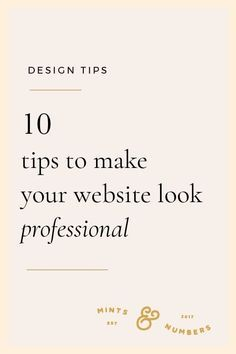 How to make your website look professional and presentable. Here are 10 of my be… How to make your website look professional and presentable. Here are 10 of my best tips to design your web pages. Web Design Trends, Design Websites, Web Design Blog, Web Design Quotes, Website Design Services, Web Design Company, Blog Designs, Graphic Design Tips, Design Blogs