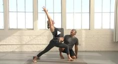 This heat-building, detoxing flow practice from Baron Baptiste weaves strong standing poses, twists, and arm balances to make you feel alive! Basic Yoga Poses, Cool Yoga Poses, Kundalini Yoga, Yoga Meditation, Baron Baptiste, Baptiste Yoga, Yoga Detox, Yoga Moves, Pilates Yoga