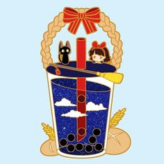 Kawaii Chibi, Cute Chibi, Kawaii Art, Studio Ghibli Art, Studio Ghibli Movies, Manga Anime, Tea Wallpaper, Hayao Miyazaki, Cardcaptor Sakura