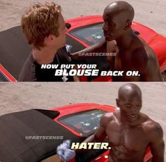 2 fast 2 furious- Brian and Roman💞 Furious Movie, The Furious, Fast And Furious, Tv Show Quotes, Movie Quotes, Dom And Letty, Dominic Toretto, Desi Jokes, Rip Paul Walker