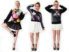 Oryginalne bluzy fullprint #mokujin #clothing #fashion #moda #black #white #fullprint #ripdiet #rip #cat #glasses