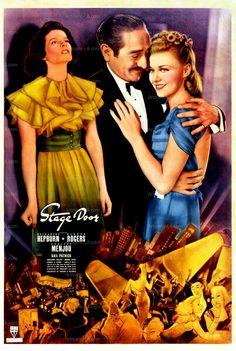 Stage Door Katharine Hepburn Ginger Rogers 1937 Movie Poster
