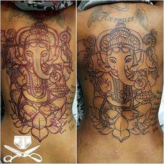 Process work.. #hindugod #ganesh back piece. #wip #empiretattooinc #elephanttattoo #inkmaster #linework #backtattoo #girlswithtattoos #originaldesign #handdrawn #freehand #freestyle #freshlyinked #darkskinbodyart #illustration #bostonbasedartist #tattoo #bostontattoo www.empiretattooinc.com