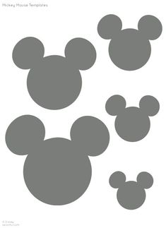 Disney's Minnie and Mickey Mouse Silhouettes/ Templates/ Stencil/ Sjabloon for all sorts of crafts ▶●◀ Provided by Spoonful.com #MickeyMouse