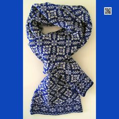 Traditional nordic knit with iceflowers. Fair Isle Knitting Patterns, Knitting Stitches, Knitted Shawls, Knit Scarves, Fair Isle Chart, Fair Isles, Yarn Thread, Shawls And Wraps, Knitting Projects