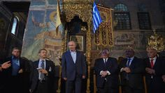 On May 2016 Russian President Vladimir Putin visited Mount Athos, one of Orthodox Christianity's holiest sites, during his official trip to Greece. Prayer Service, Russian Orthodox, Cultural Events, Greece Travel, Pilgrimage, Daily News, Christianity, Presidents, Cathedral