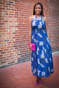 Maxi Dress: Gap Shoes: Off Broadway Shoe Warehouse Necklace: The Limited