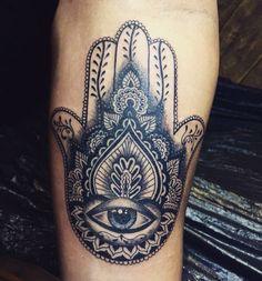 Hand of Fatima Tattoo by Rey Sparkle