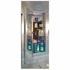 """Century Bathworks 2370 4 IN-Depth-Flat Mirror Satin Anodized Aluminum Interior Bathroom Fixtures Single Door 4"""" Depth Or 6"""" Depth 70"""" Medicine Cabinets by Century. $1529.60. Century Bathworks 2370 Bathroom Fixtures Single Door 4"""" Depth Or 6"""" Depth 70"""" Medicine Cabinets - 23""""- Wide X 70"""" Height X 4"""" Depth OR 6"""" Depth Cut Out Size 22-1/4"""" x 69-3/8"""" Available In Finishes Of Black & White & Satin Anodized Aluminum Available In Flat Mirror & Beveled Mirror Space Saver Ele..."""
