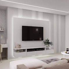 Living Room Tv Unit Designs, Ceiling Design Living Room, Bedroom False Ceiling Design, Home Room Design, Modern Tv Room, Living Room Modern, Home Living Room, Living Room Decor, Home Interior