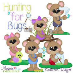 Hunting For Bugs~SVG-MTC-PNG plus JPG Cut Out Sheet(s) Our sets also include clipart in these formats: PNG & JPG