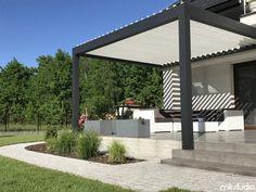 Doskonałe zadaszenie tarasu u naszego Klienta za pomocą pergoli pro oraz markizy - Blog MK Studio Warszawa Patio Diy, Patio Pergola, Backyard Patio Designs, Pergola Designs, Design Jardin, Garden Design, Relax, Outdoor Structures, Building