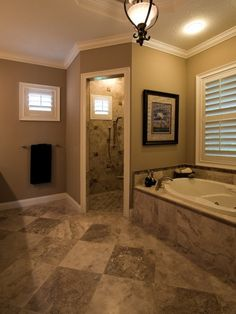 Removed outdated garden tub and shower stall and built a large walk in shower with multi-function shower controls and bench. Description from pinterest.com. I searched for this on bing.com/images