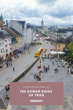 One of my travels across Germany, I was fortunate enough to do a day trip to the town of Trier in the Rhineland-Palatinate region (near the Luxembourg border). The reason I came here was the history of the town and to check out the ruins of buildings from the past. Not just Germanic history but the town has a lot of Roman heritage. Check out my findings and why you should plan a visit here!  #Germany #Deutschland #Trier #Roman #Romanhistory European Travel Tips, Europe Travel Guide, Travel Guides, Rome Travel, Travel Abroad, Italy Travel, Europe Destinations, Places In Europe, Places To Travel