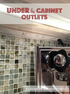 Under Cabinet Outlet Strip . Under Cabinet Outlet Strip . Building Your Dream Home What Would You Add New Kitchen Cabinets, Kitchen Redo, Kitchen Remodel, Upper Cabinets, Kitchen Small, Diy Cabinets, Design Kitchen, Kitchen Ideas, Under Cabinet Outlets