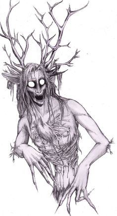 The Wendigo is a creature of North American (Algonquian speaking cultures) origin, part man, part beast and part tree, he is said to be born of one who . Mythological Creatures, Fantasy Creatures, Mythical Creatures, Arte Horror, Horror Art, Fantasy Kunst, Fantasy Art, Creepy Art, Scary
