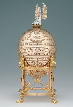 The Dowager (or Imperial Pelican) Fabergé egg, is a jewelled Easter egg[1] made under the supervision of the Russian jeweller Peter Carl Fabergé in 1898.[2] The egg was made for Nicholas II of Russia, who presented it to his mother, the Dowager Empress Maria Feodorovna on Easter 1898