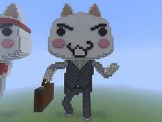Toro Inoue (Sony Cat) as a Businessman -- Minecraft Build
