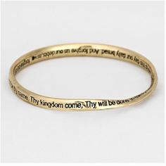 """Lord's Prayer Bracelet NWT- Burnish goldtone twisted bracelet 1/4"""" h x 2 5/8"""" Diameter. Nickel free Jewelry Bracelets"""