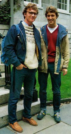 Mens Club 1981  penny loafers, vneck/tshirt, sneakers  source - Heavy Tweed Jacket
