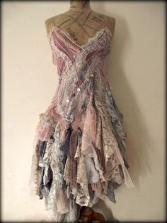 recycled fashion-ethical design-vintage fabrics-bohemian clothing - Decadent dresses