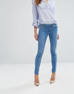 Levi's 711 Mid Rise Skinny Jeans at Asos