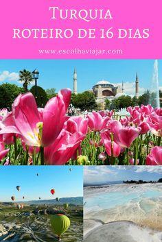 Esse roteiro de viagem pela Turquia começa no lado europeu de Istambul. Depois, vai para a parte asiática do país , passando pela Capadócia, Pamukkale e Ephesus e termina na Europa novamente, conhecendo o litoral. Places To Travel, Places To Go, Travel Stuff, Travel Guides, Travel Tips, Pamukkale, Capadocia, Turkey Travel, Eurotrip