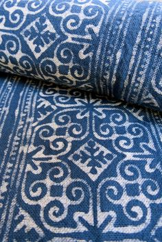 Handwoven cotton Vintage fabrics Indigo Blue Hmong by dellshop