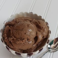 Chocolate Butterfinger Ice Cream -- This creamy chocolate ice cream is studded with salty, crunchy Butterfinger candy bars!