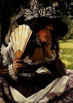 James Jacques Joseph Tissot - Jeune Femme A L Eventail