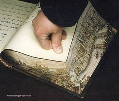 Fascinating! done in the  mid 1600s . The World of Fore-Edge Painting | fade theory