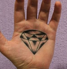 Small Diamond Tattoo Designs to Show Long-Lasting Value With Ink Hand Tattoos, Hand Heart Tattoo, Forearm Tattoos, Unique Tattoos, Sleeve Tattoos, Tattoo Arm, Mandala Tattoo, Tatoos, Diamond Tattoo Meaning