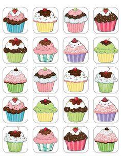 cute cupcake stickers<3