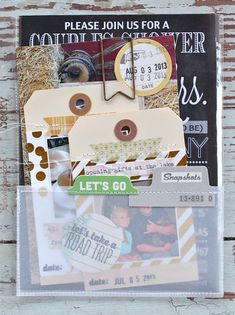 lovely way to include lots of invitations and memorabilia